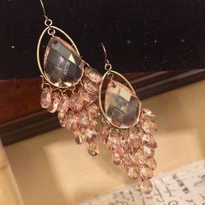 Peach Dangle Earrings